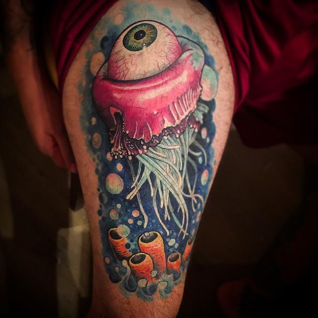 Eye Jellyfish Tattoo