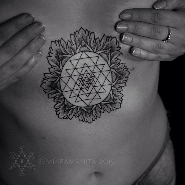Framed Messed Up Triangles tattoo