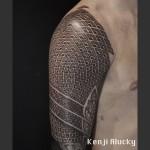 Geometry Pattern Shoulder Tattoo