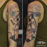 Human Universe Tattoo on Shoulder