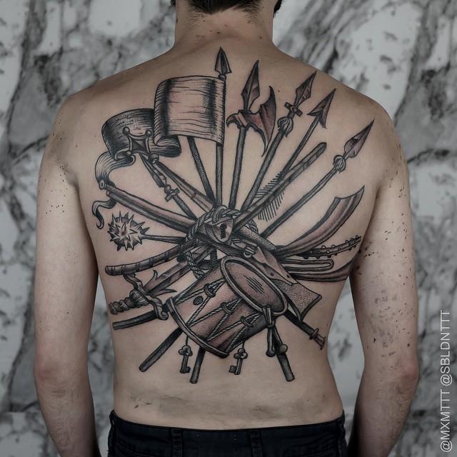 No Warfare Lock Tattoo