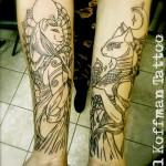 Sekhmet and Bastet Egypt Tattoos on Arm