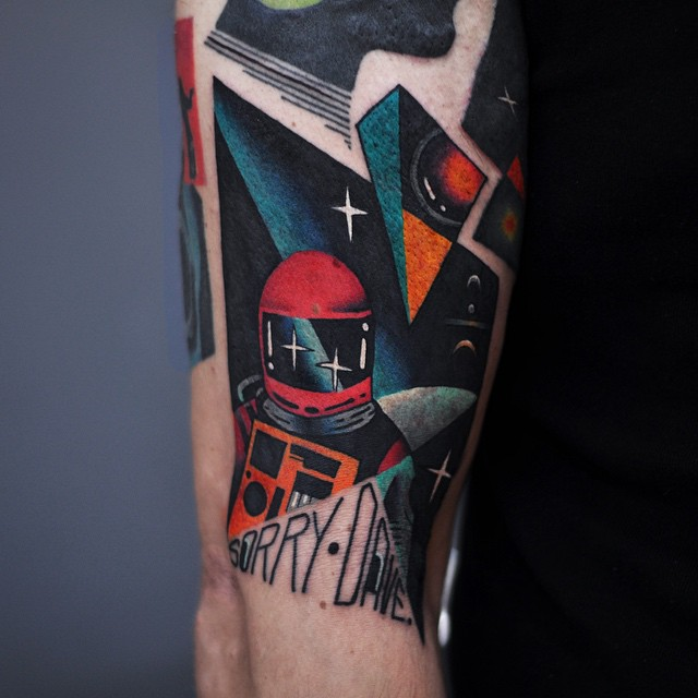 Sorry Dave Space Odyssey Tattoo