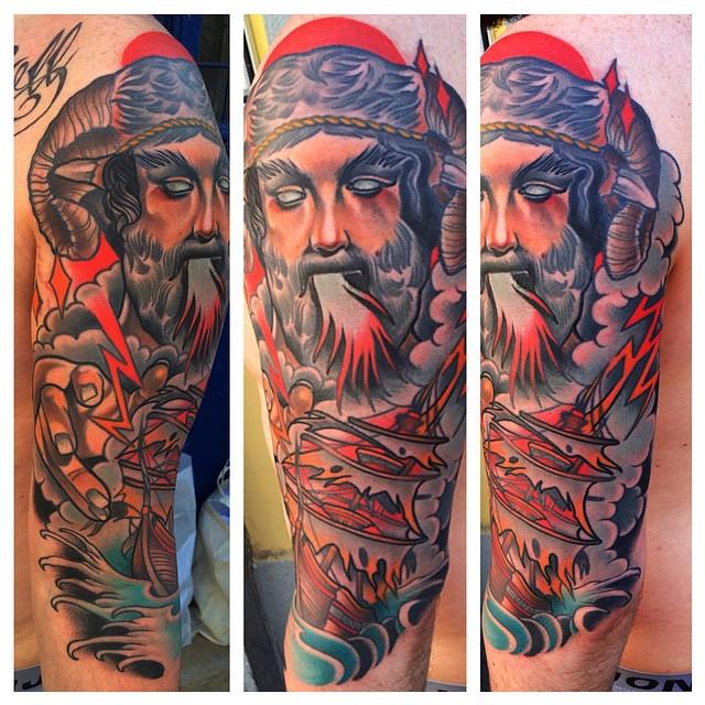 Thunder Breathing Poseidon Tattoo