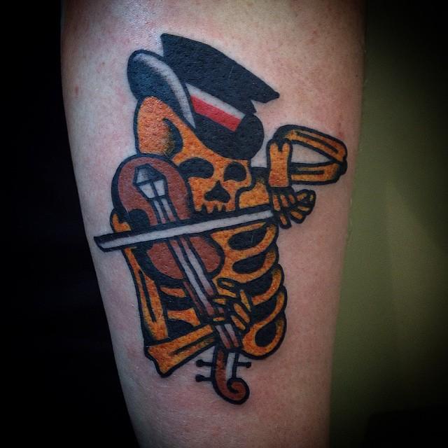 Violin Skeleton Tattoo