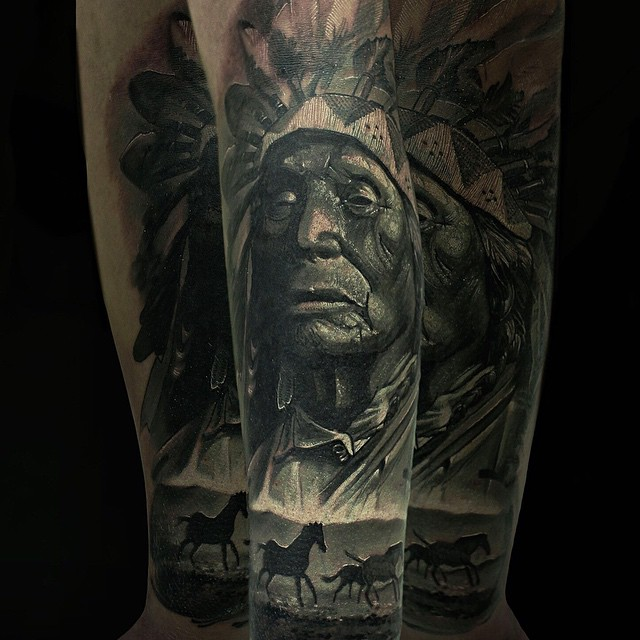 Western Mustang Tattoo