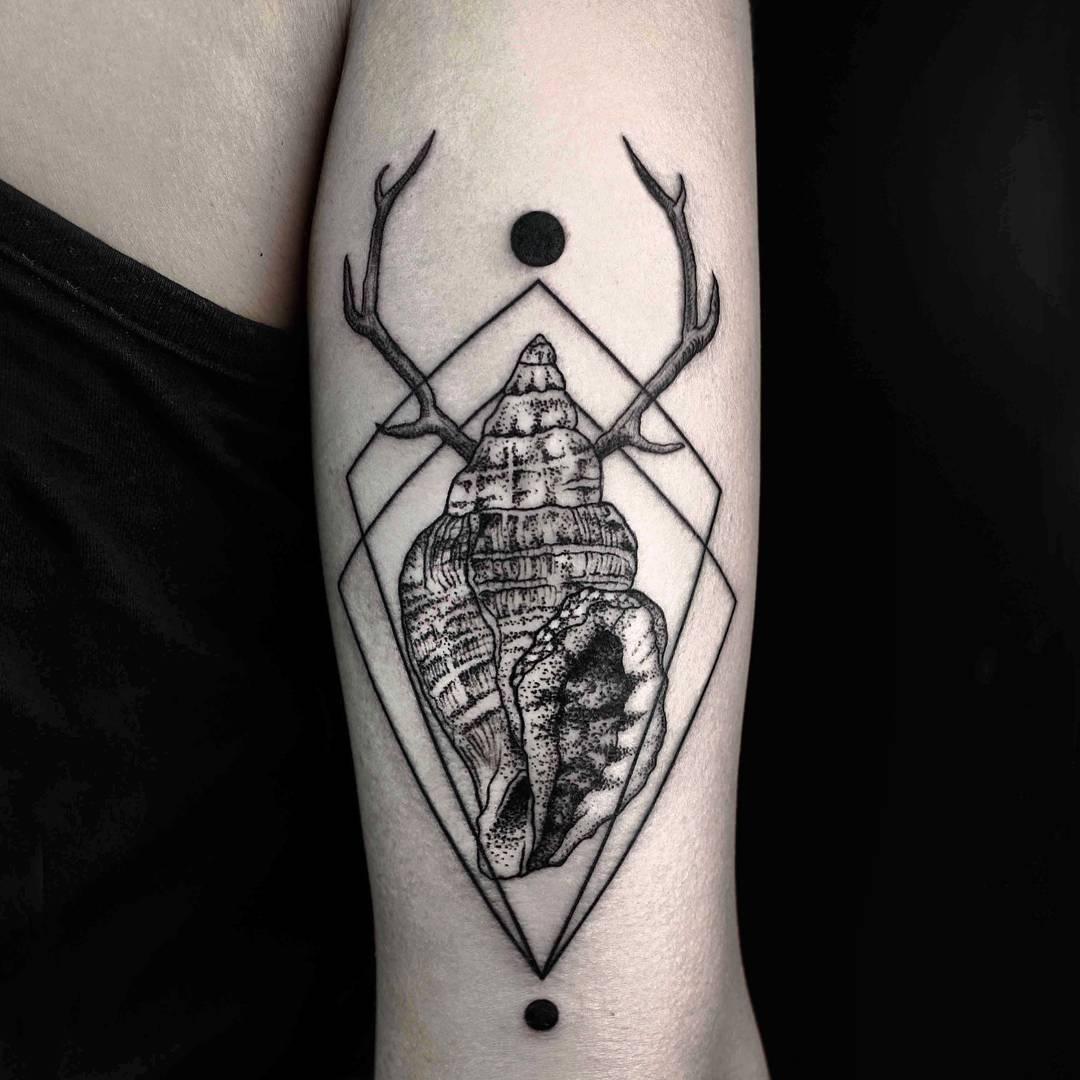 Antler Shell Tattoo