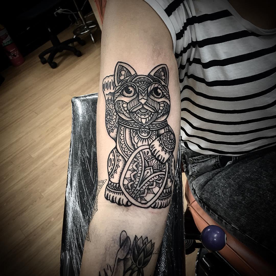 Buddha Cat Tattoo