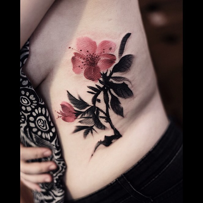 Chinese Ink Painting Tattoo