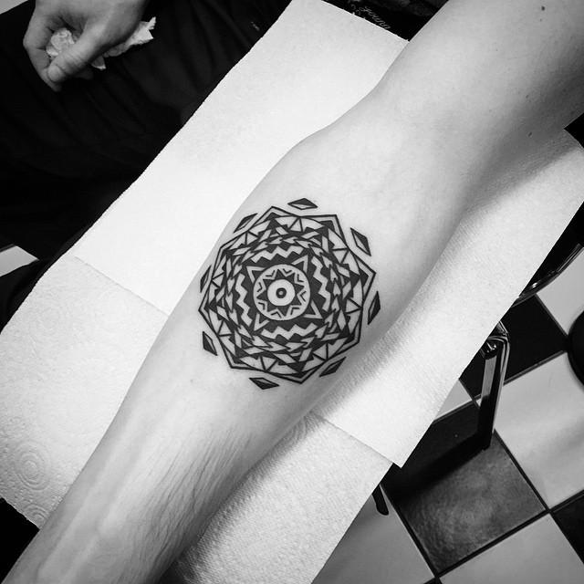 Circle Geometry Tattoo Pattern