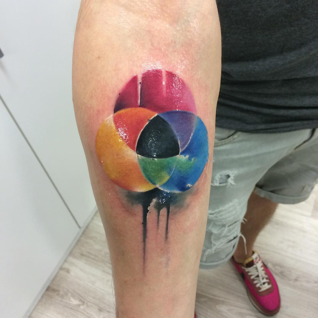Color Palette Tattoo on Arm
