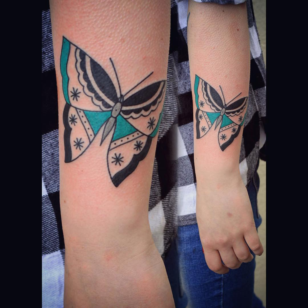 Cool Arm Butterfly Tattoo