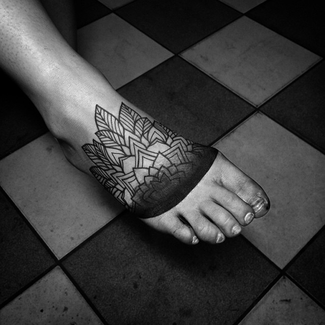 Foot Tattoo Cover Up