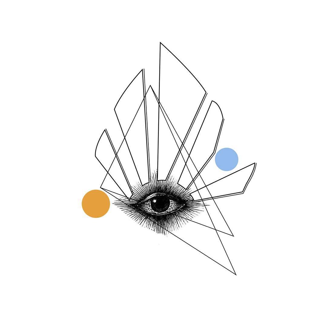 Geometry Eye Tattoo Design
