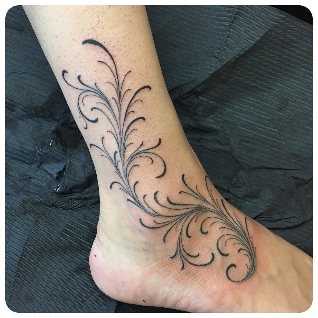 Girly Foot Tattoo