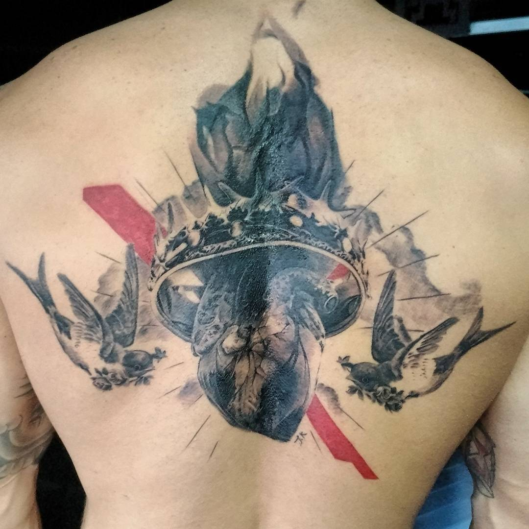 Heart With Crown Tattoo