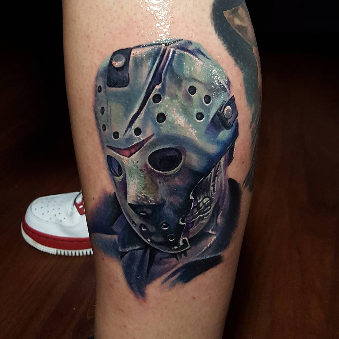Jason Tattoo on Leg