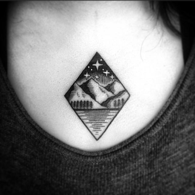 Small Landscape Tattoo