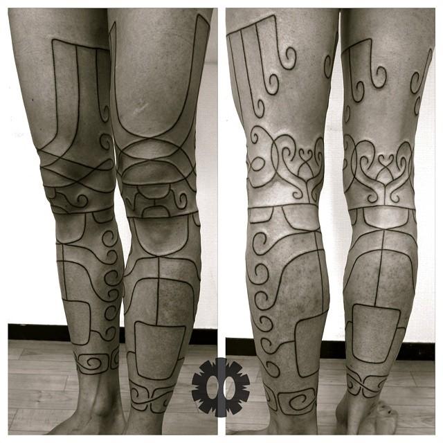Thin Lines Tribal Tattoos