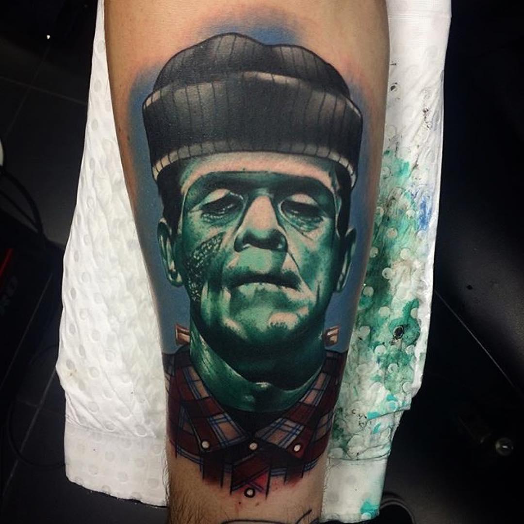 Woodchuck Frankenstein Tattoo