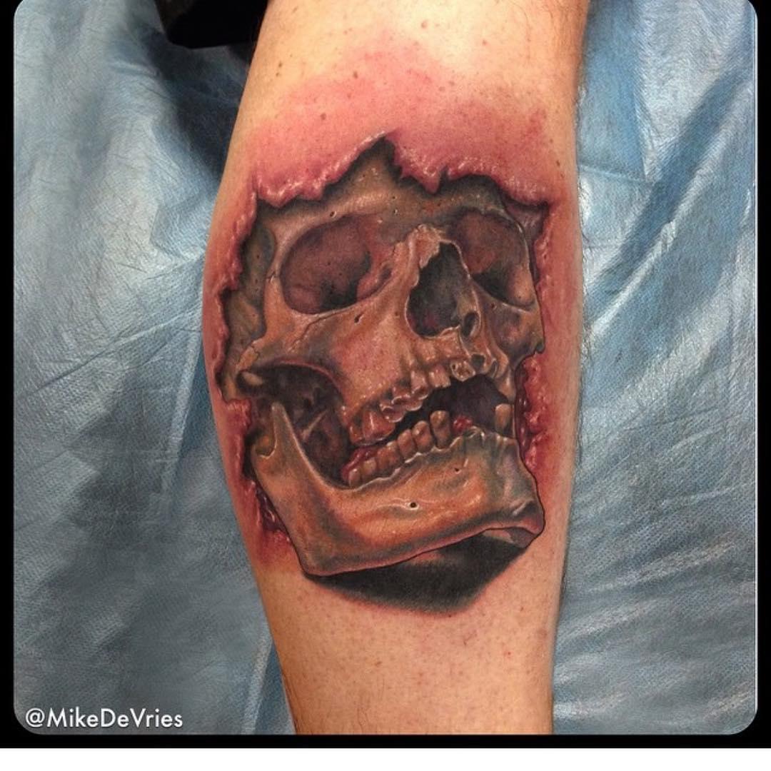 3D Arm Tattoo