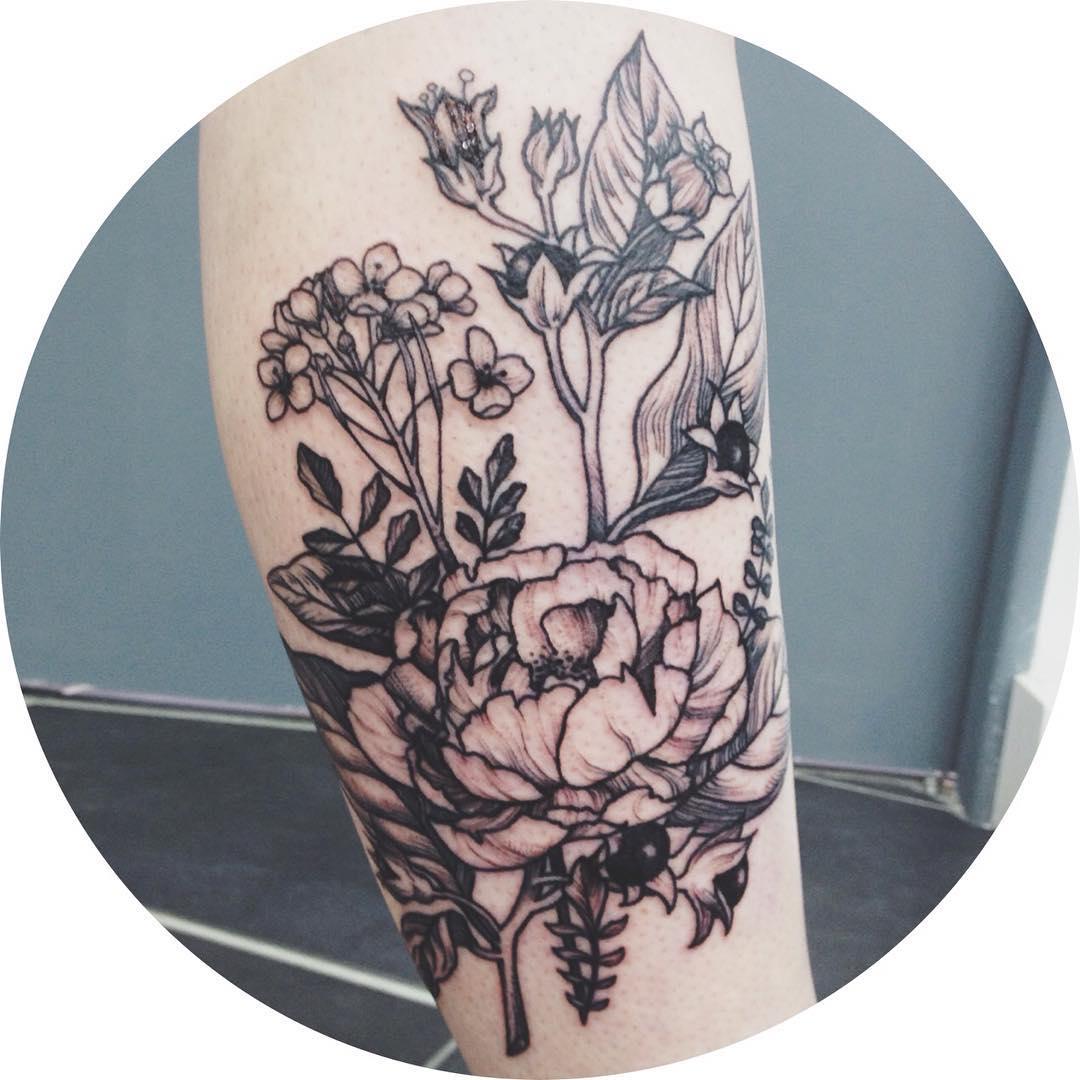 Arm Flower Tattoos