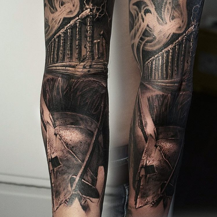 Black and Grey Tattoo Sleeve