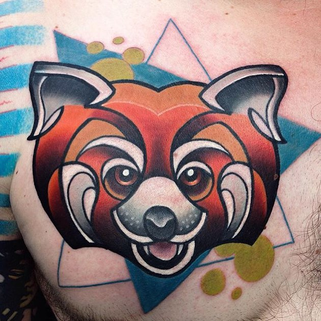 Chest Firefox Tattoo