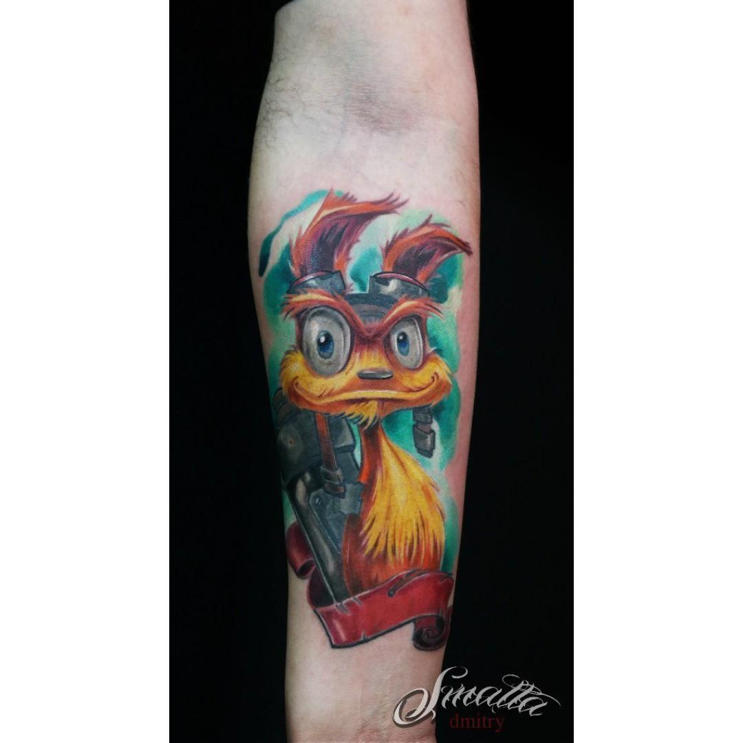Cute Fluffy Atm Tattoo