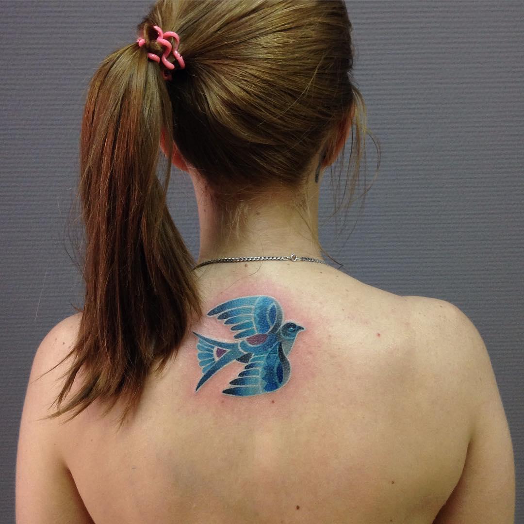 Dove Tattoo on Back