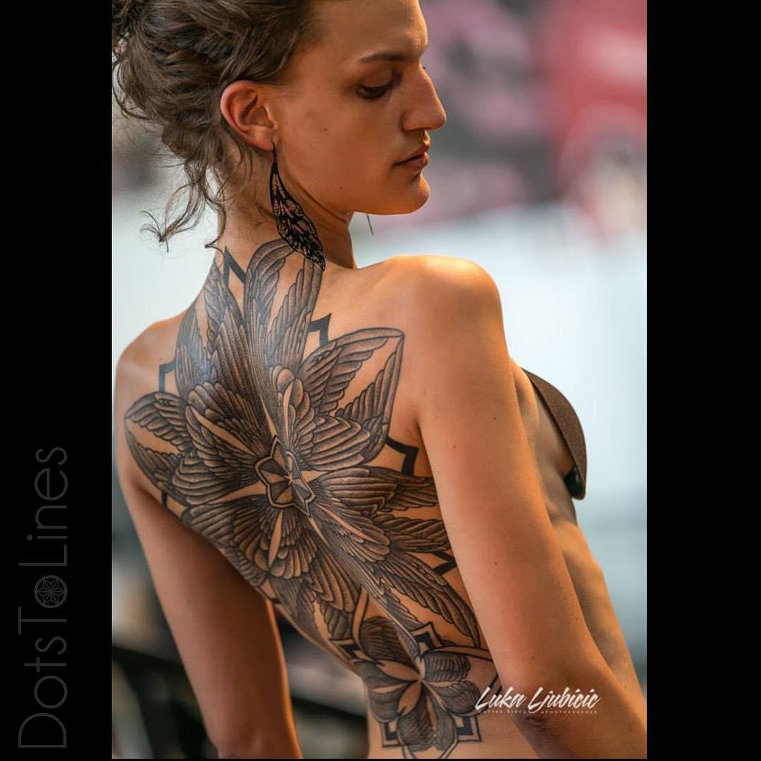 Flower Back Tattoos