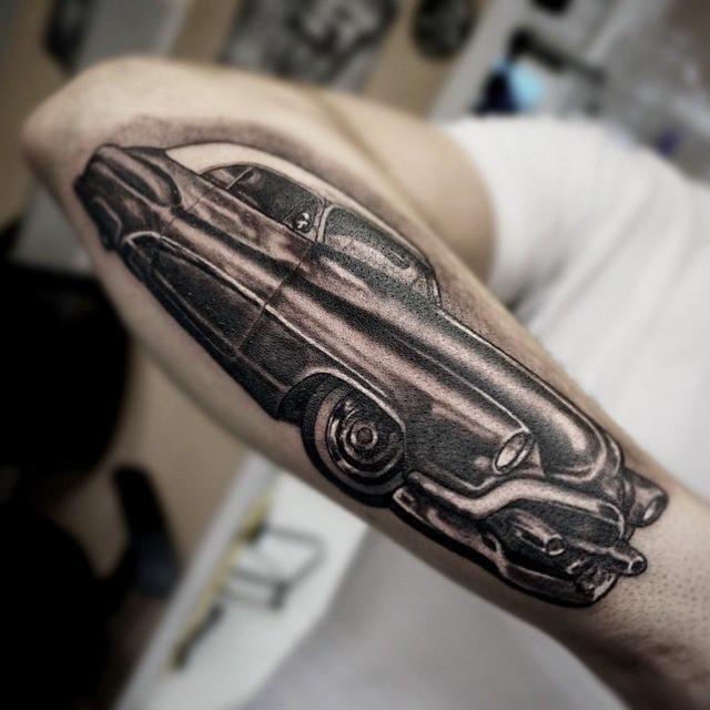 Forearm Old Car Tattoo
