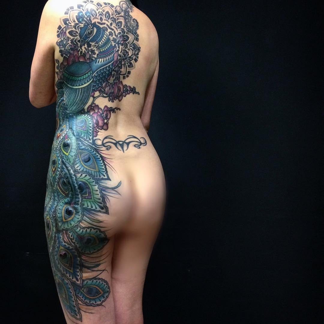 Full Body Peacock Tattoo