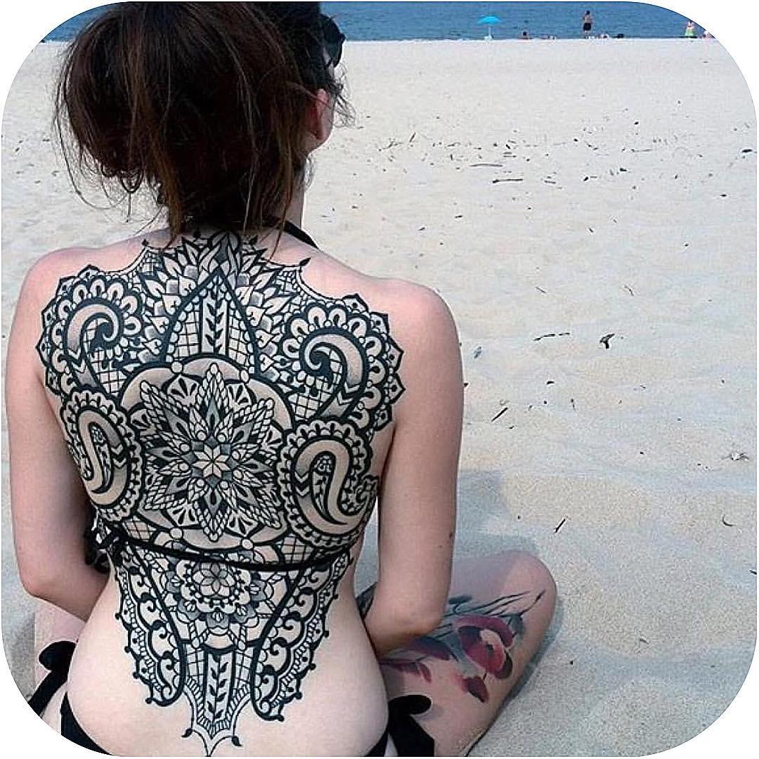 Girl Back Tattoo