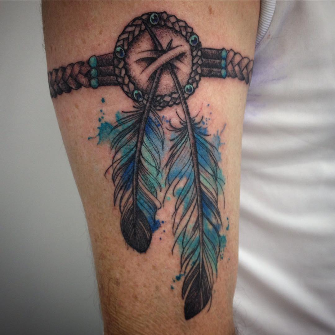 Indian Feather Tattoo