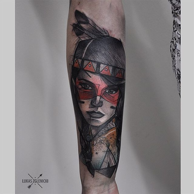 Indian Girl Tattoo