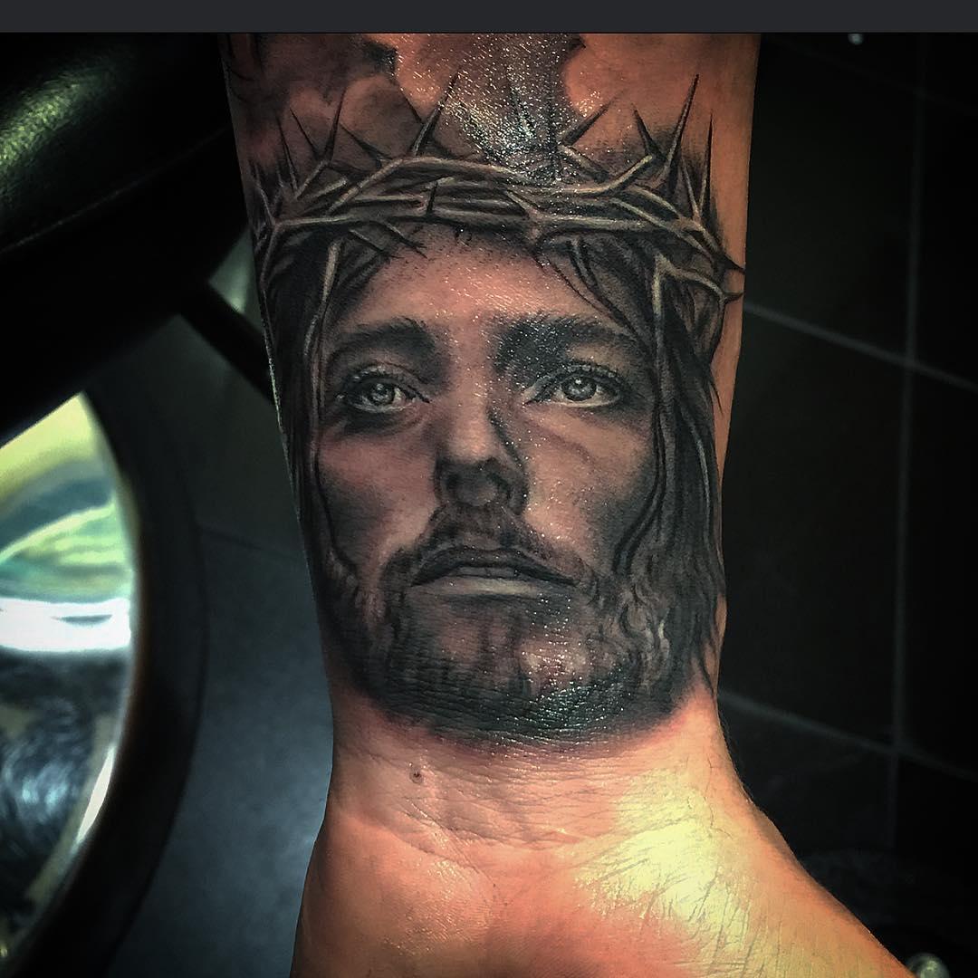Jesus Tattoo on Wrist