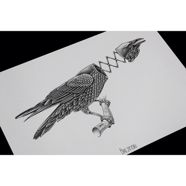Mechanical Eagle Tattoo Idea