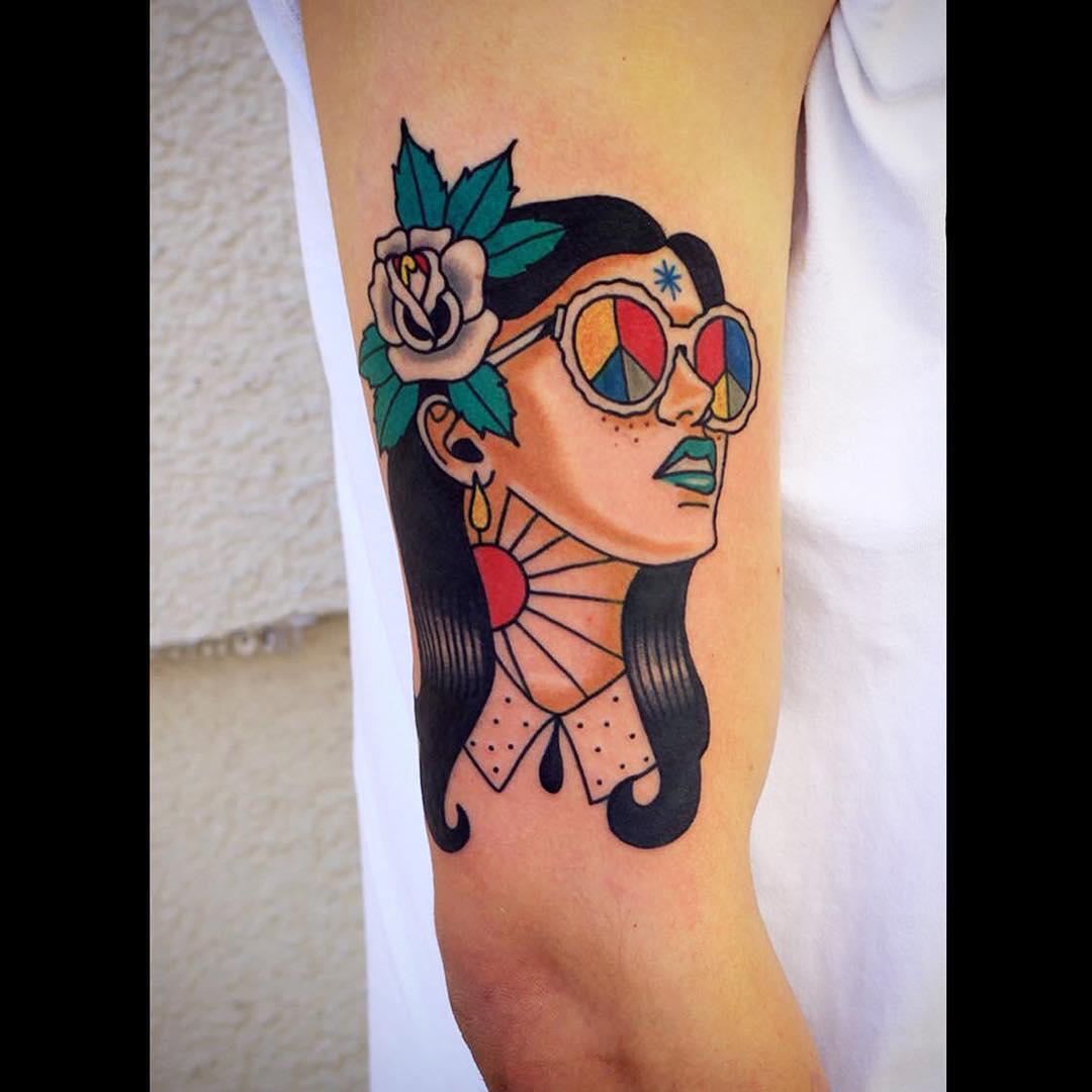Peace Love Tattoo on Arm