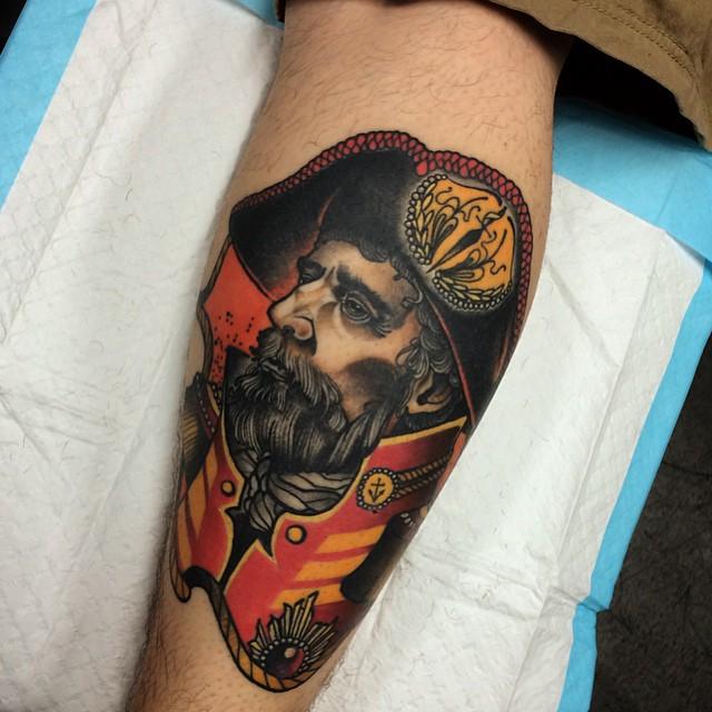 Pirate Tattoo on Calf