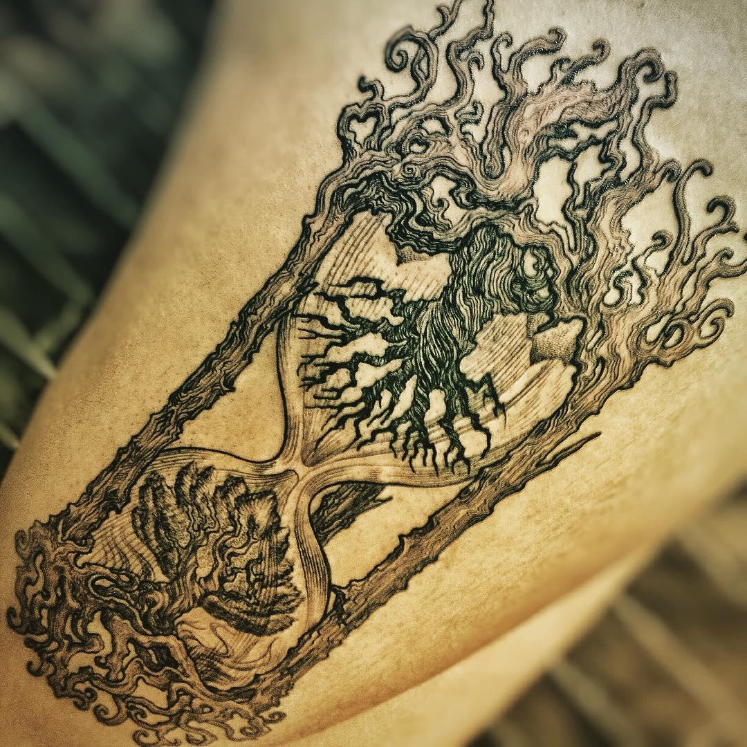 Tattoo Hourglass