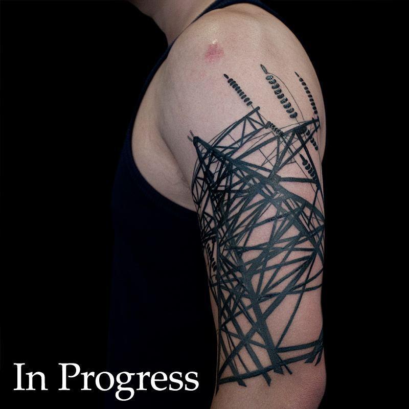 Transmission Tower Tattoo