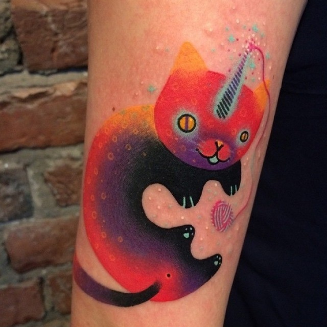 Unicorn Kitty Tattoo