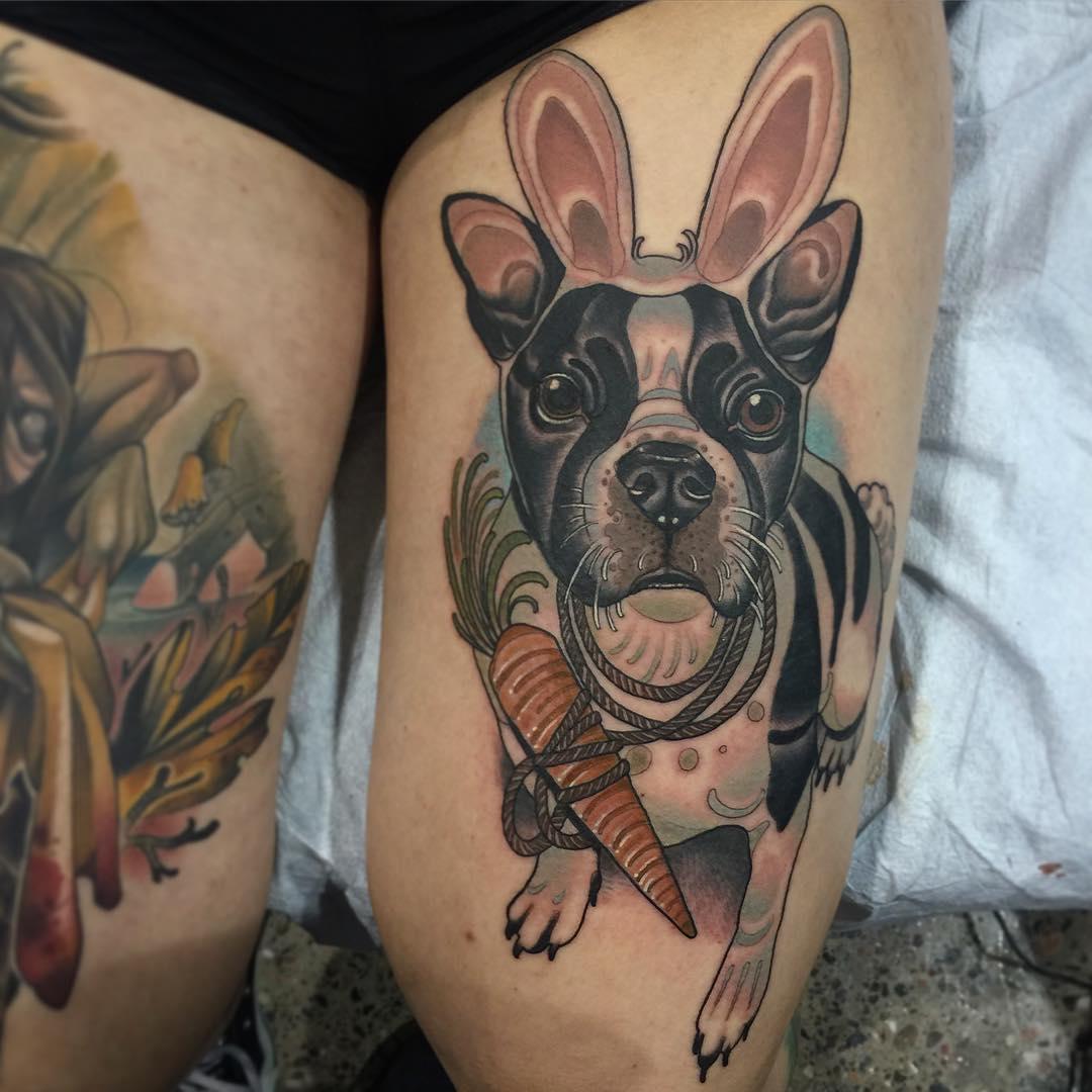 Bunny Bulldog Tattoo