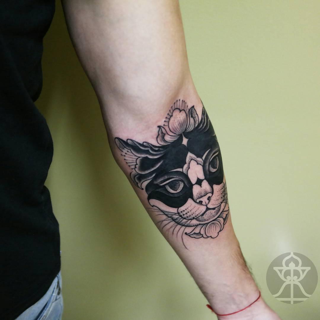 Cat Tattoo on Arm