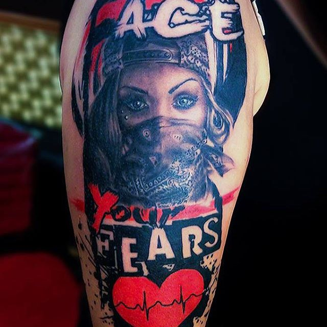 Face Your Fears Tattoo
