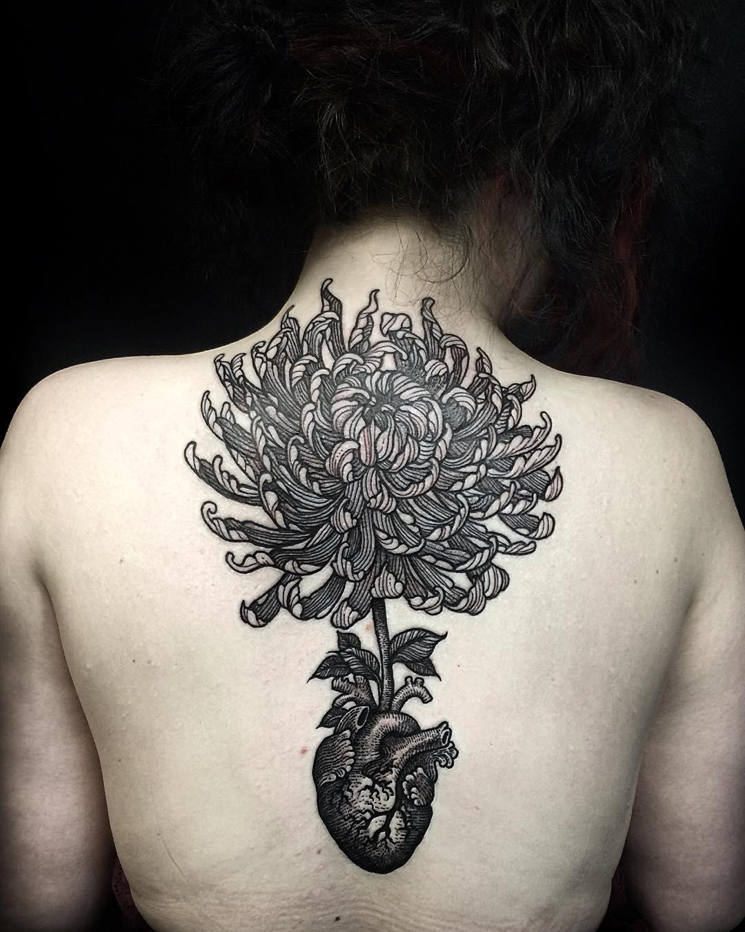 Heart Fower Tattoo