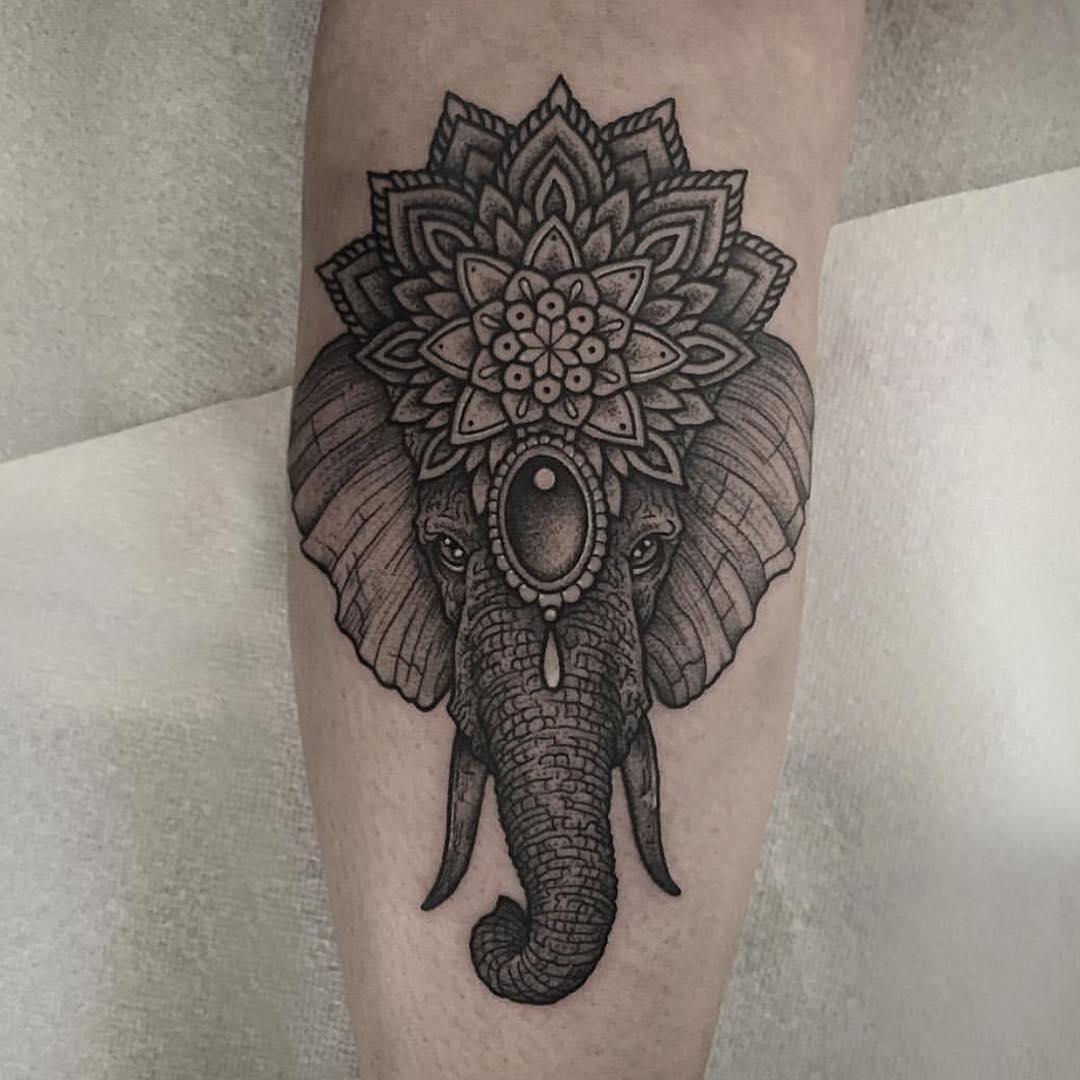 Hindu Elephant Tattoo