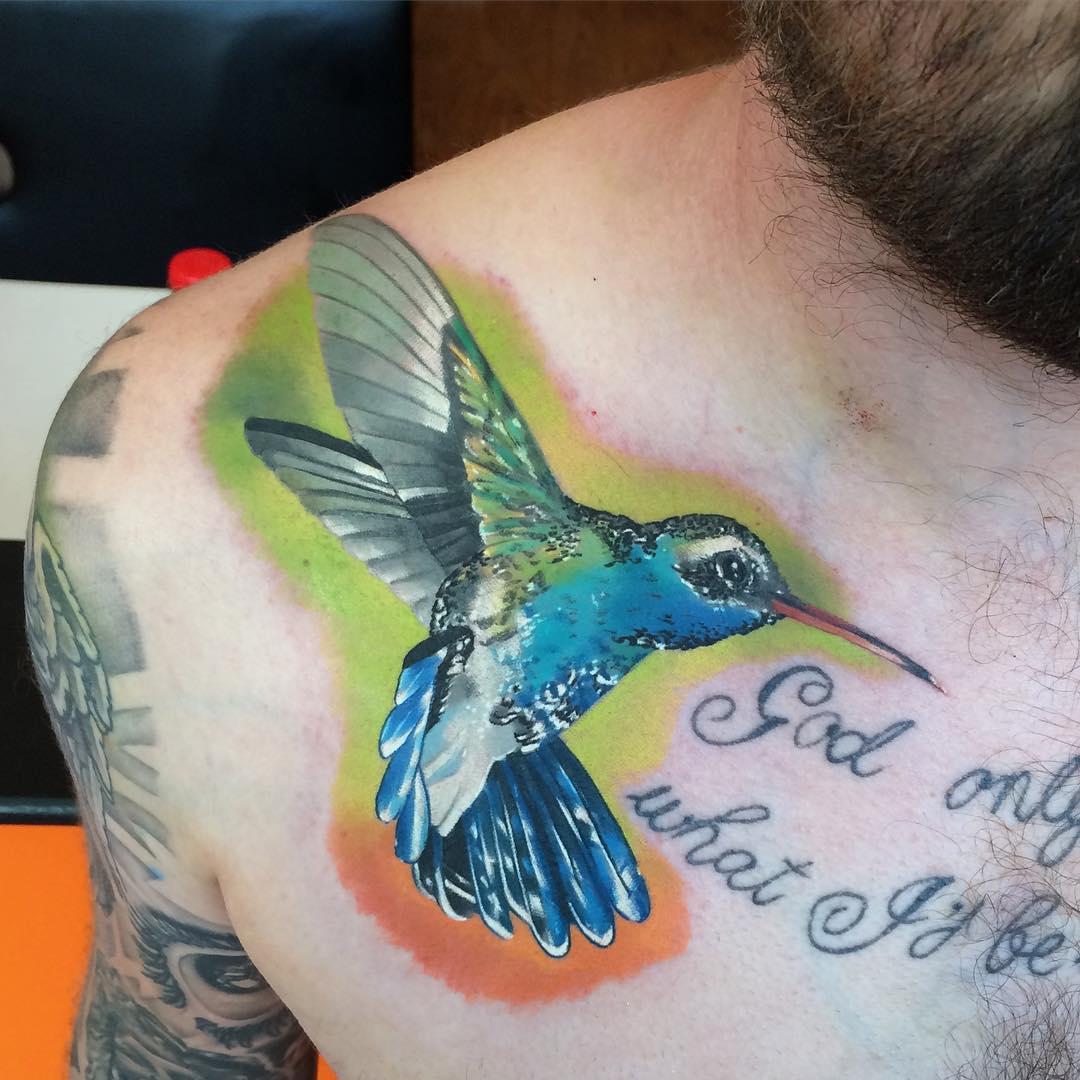 Hummingbird Tattoo Design