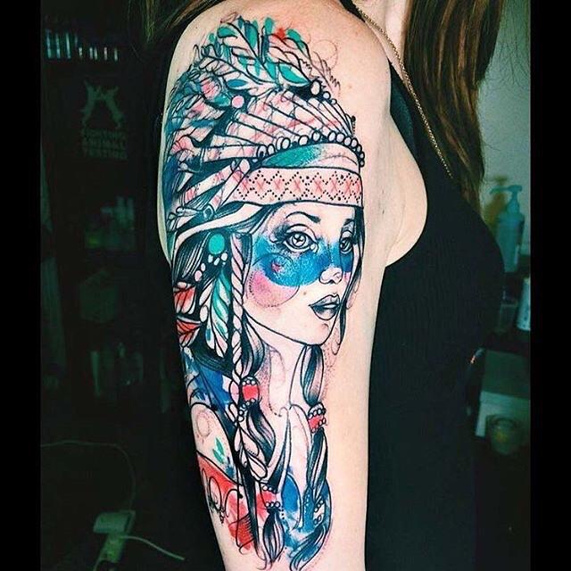 Indian Tattoo Girl